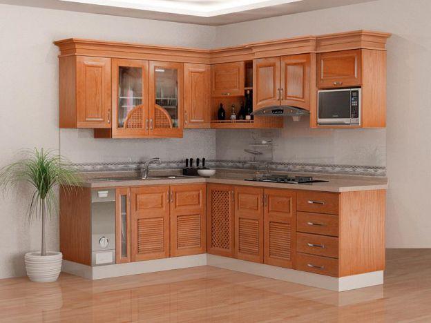 Có nên làm tủ bếp bằng gỗ tự nhiên?