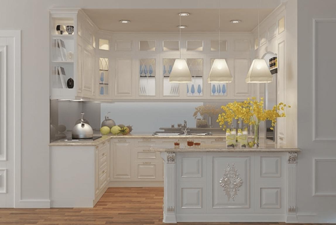 Những mẫu tủ bếp phong cách bán cổ điển đáng chú ý