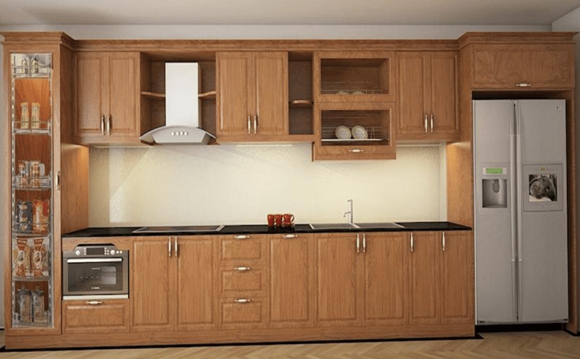 Đóng tủ bếp gỗ hết bao nhiêu tiền?