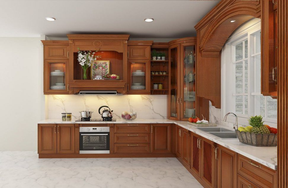 Tủ bếp gỗ xoan đào ở đâu tại HCM chất lượng cao, giá phải chăng, dịch vụ tốt?