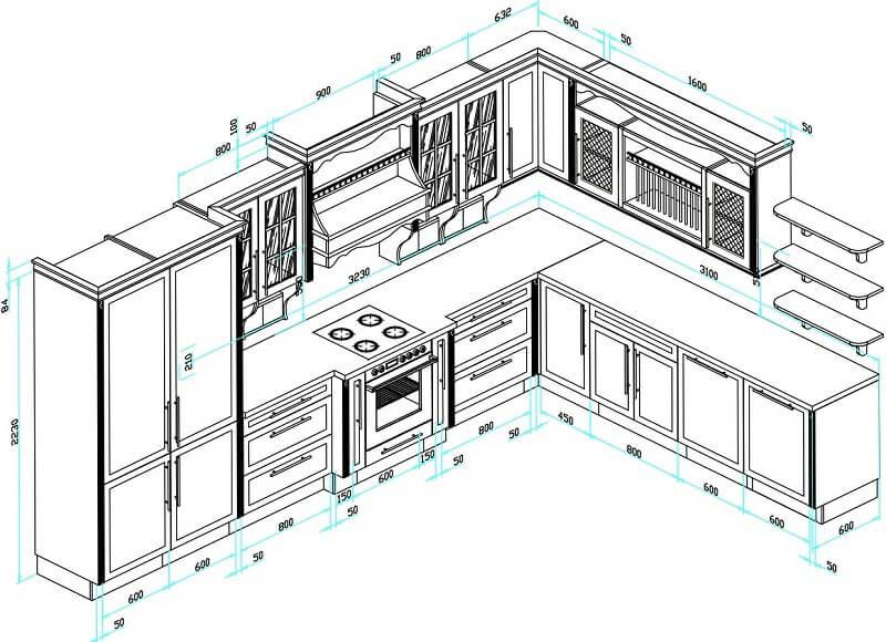 Kích thước của tủ bếp đẹp tiêu chuẩn mà bạn cần biết trước khi đặt mua