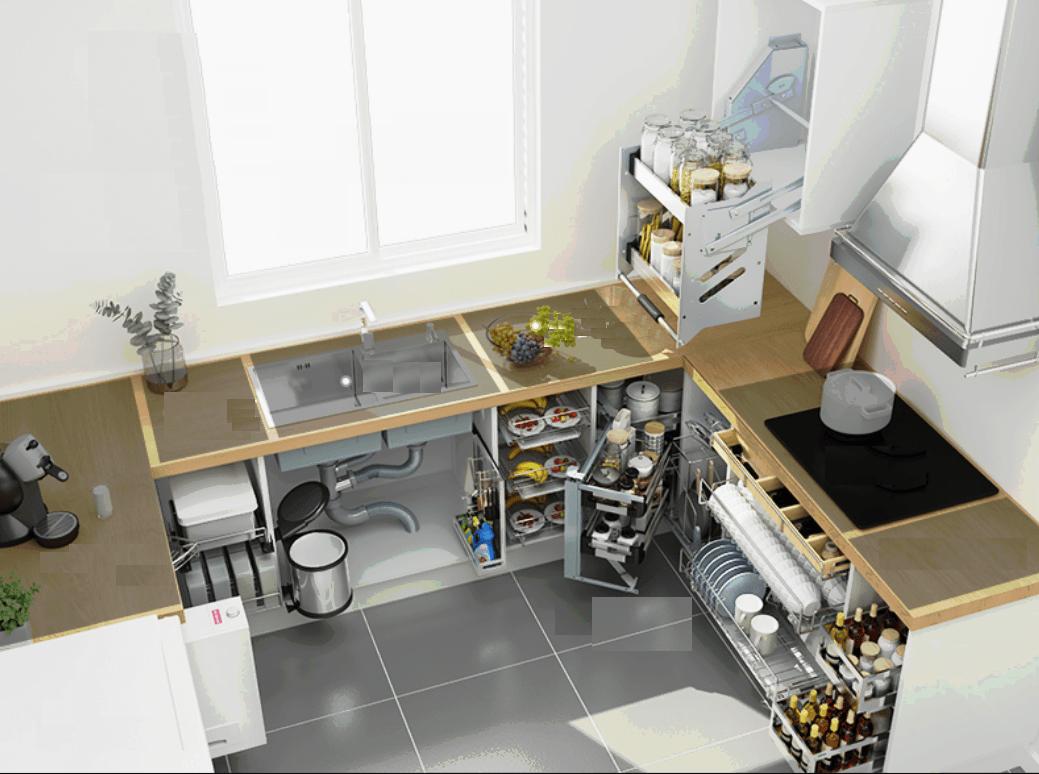Kệ đựng gia vị để làm gì trong tủ bếp gia đình?