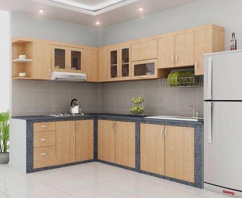 Tủ bếp khung bê tông có nên làm hay không?