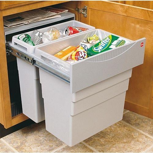 Chia sẻ cách làm thùng rác trượt trong hộc tủ bếp vô cùng đơn giản và tiện dụng
