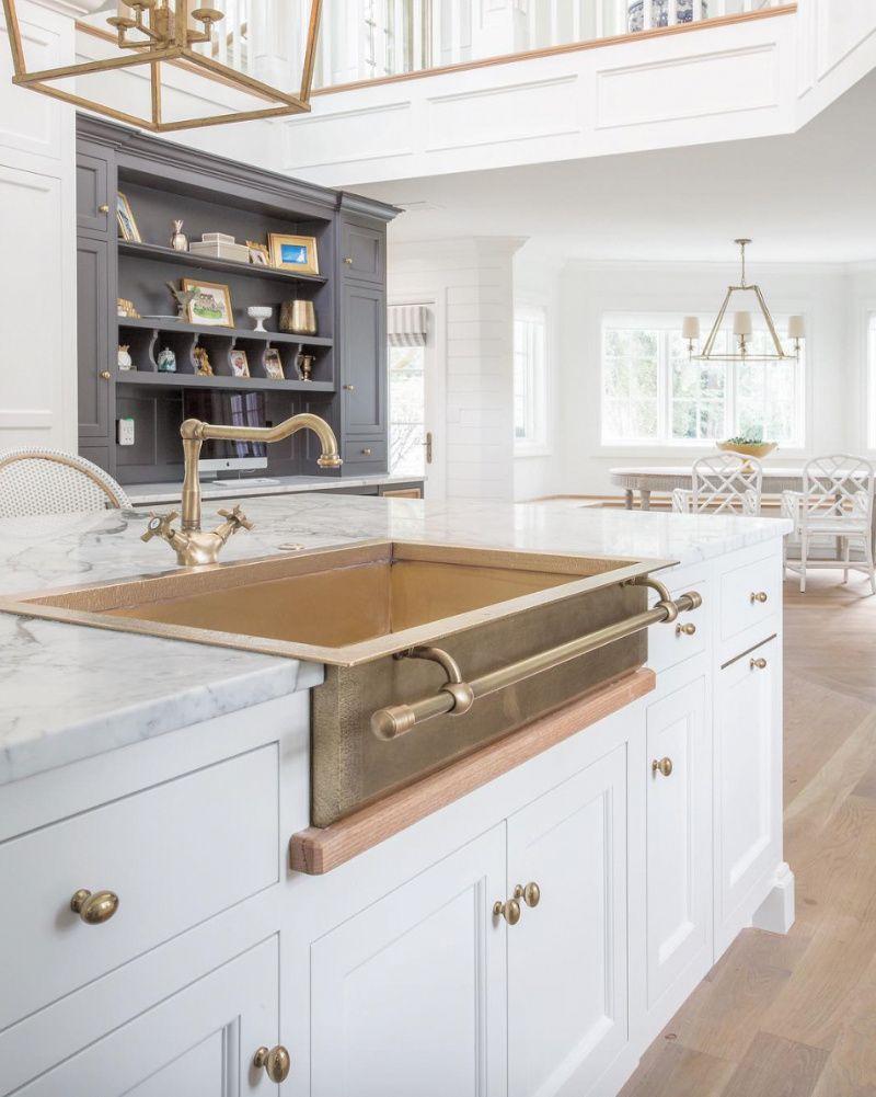 Phụ kiện tủ bếp bằng đồng giúp khu vực bếp thêm rực rỡ