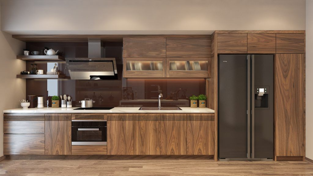 Vì sao giá tủ gỗ óc chó lại cao hơn những loại gỗ khác khi thi công tủ bếp?