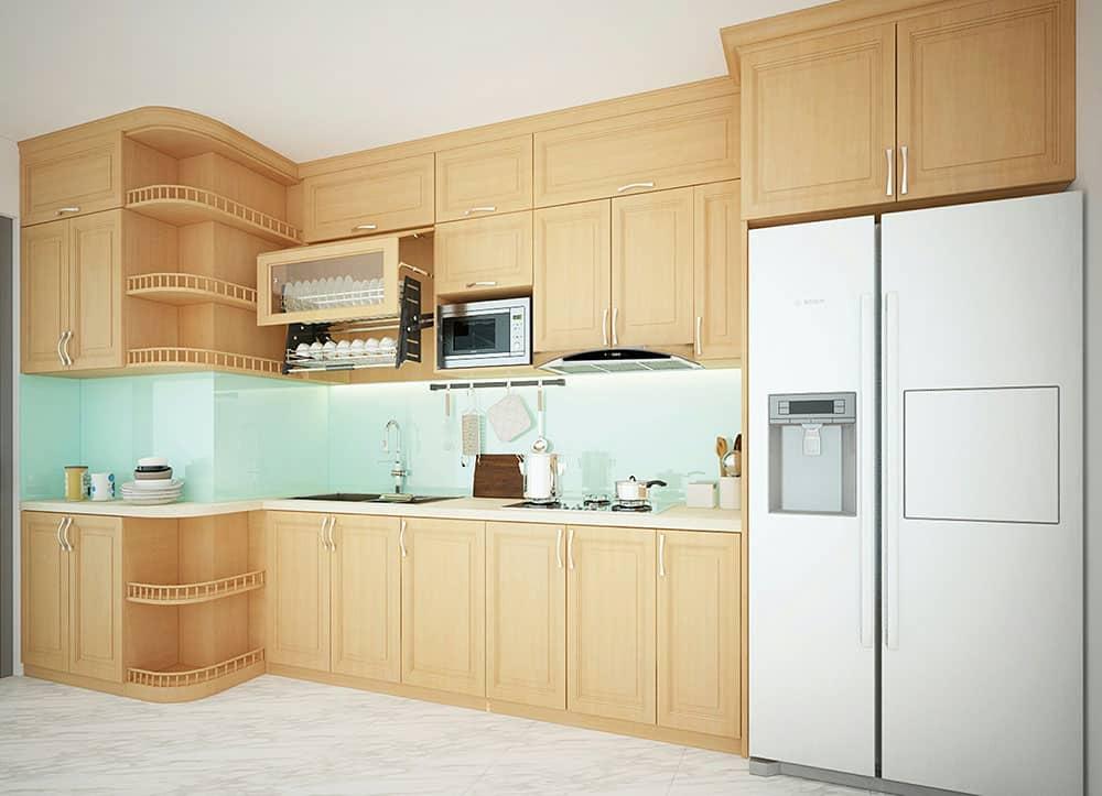 Top 5 mẫu tủ bếp gỗ sồi đẹp được yêu thích nhất 2021
