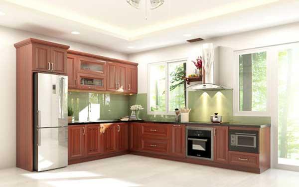 Những lý do nên chọn tủ bếp gỗ xoan đào cho gia đình