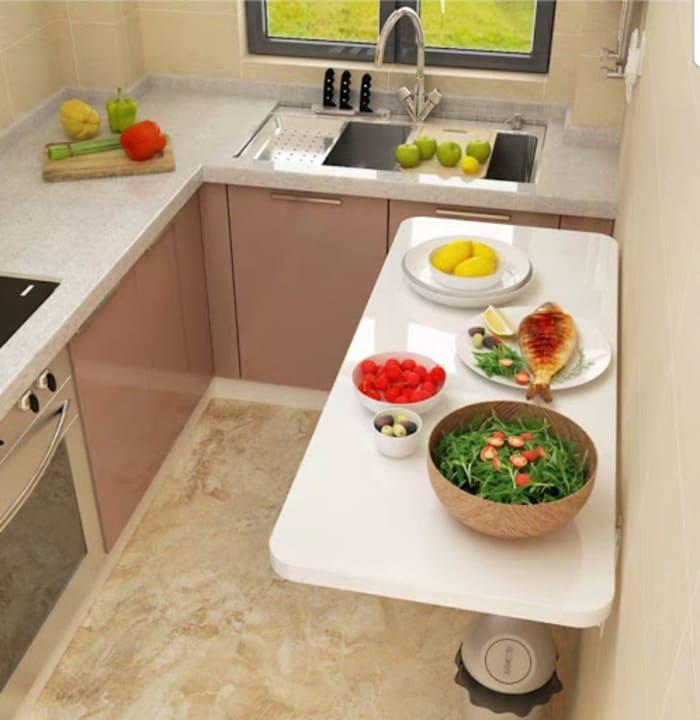 Gợi ý nội thất bếp tối giản cho phòng bếp nhỏ