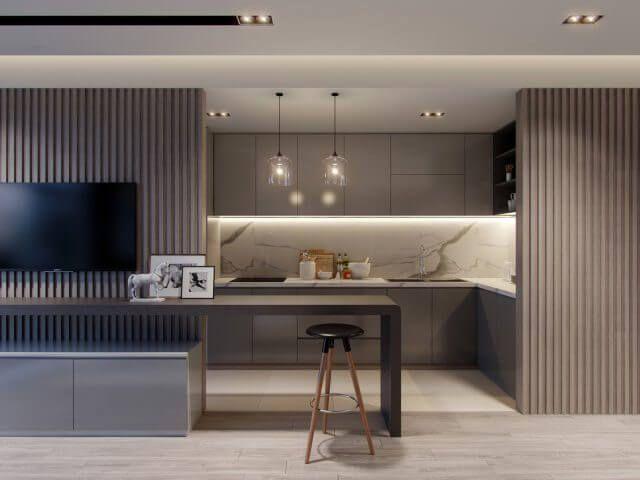 Thiết kế phòng bếp chung cư cần lưu ý điều gì?