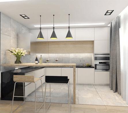 Kích Thước Tủ bếp Đảo Chuẩn Cho mọi nội thất phòng bếp