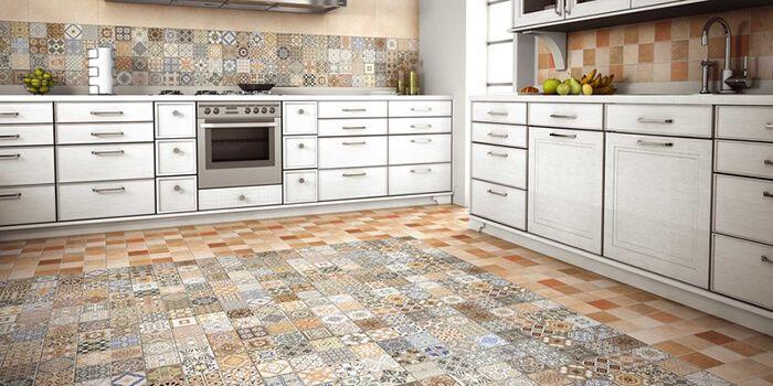 Những ý tưởng lát sàn và ốp tường cho không gian bếp thêm độc đáo