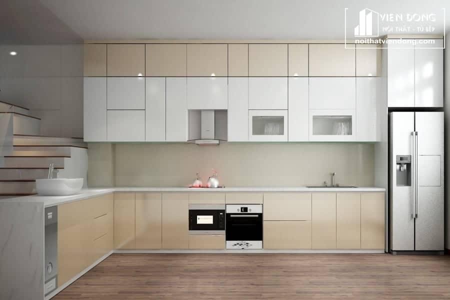 Nên chọn tủ bếp gỗ Căm Xe hay tủ bếp Acrylic?