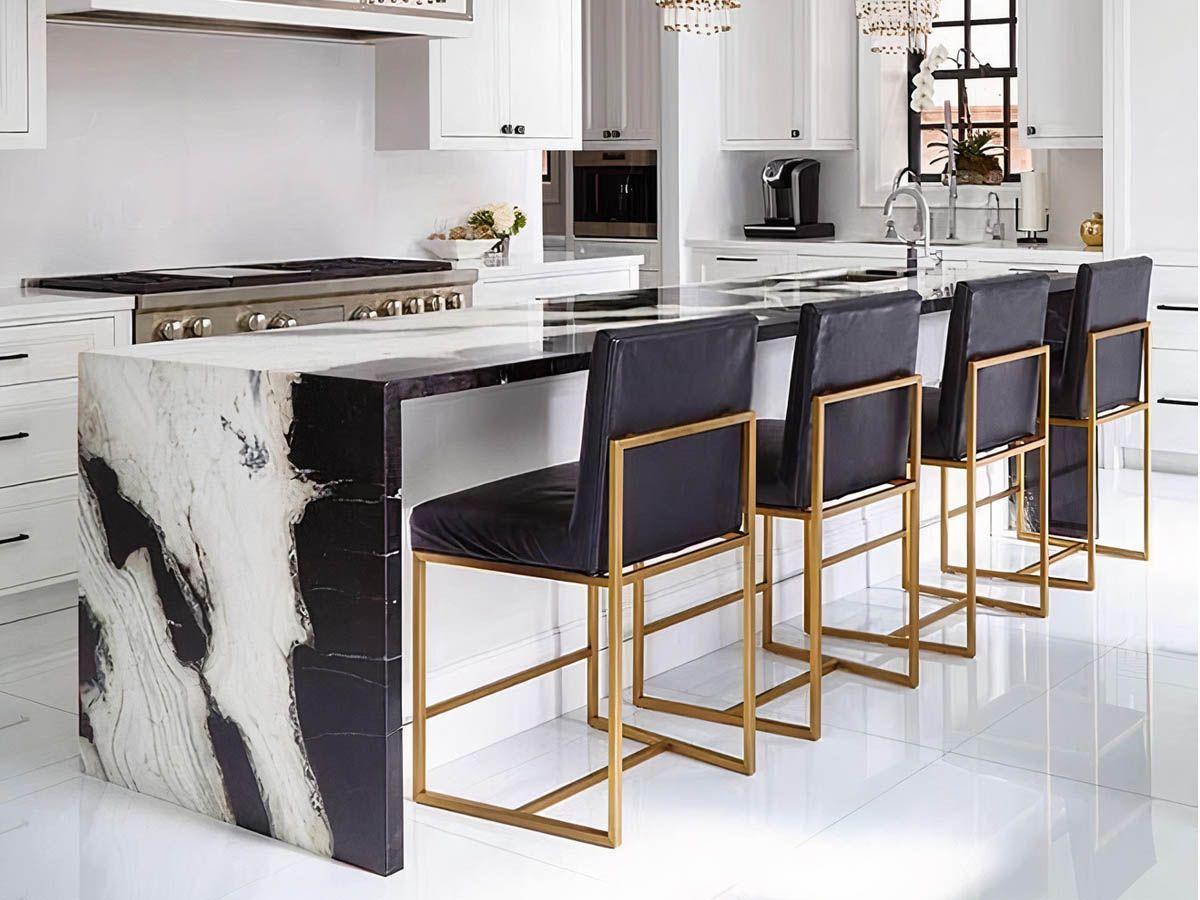 Trang trí nội thất bếp gia đình bằng đá cẩm thạch
