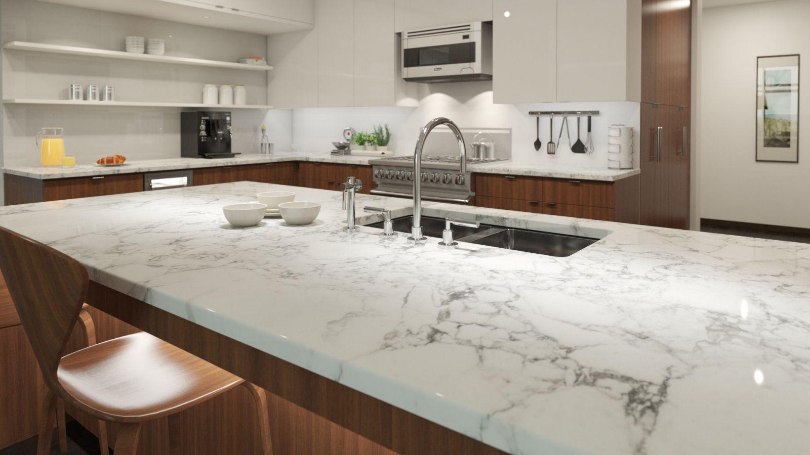 Mặt đá tủ bếp màu trắng có những loại nào?