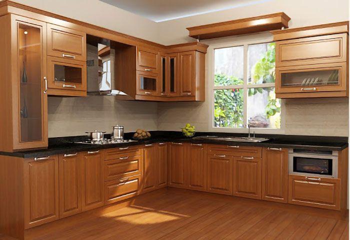 Chất liệu tủ bếp gỗ giáng hương bền, đẹp và sang trọng