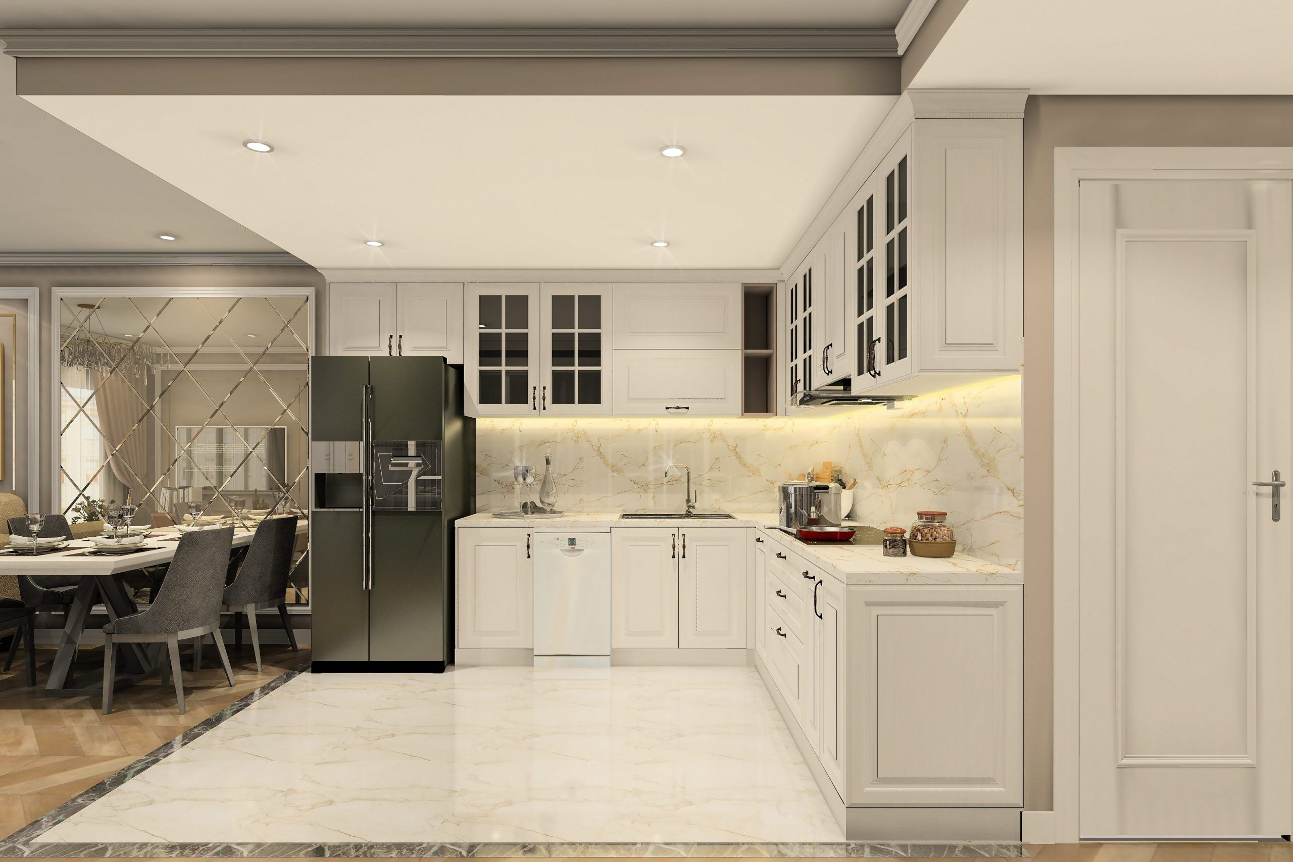 Lựa chọn thảm trải sàn như thế nào trong thiết kế nội thất phòng bếp gia đình