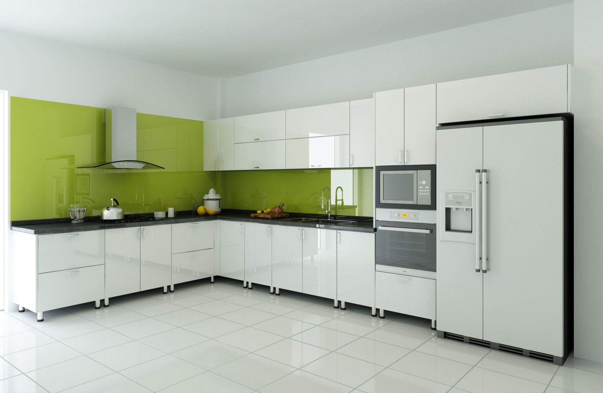 Vật liệu xanh trong trang trí tường nội thất phòng bếp gia đình