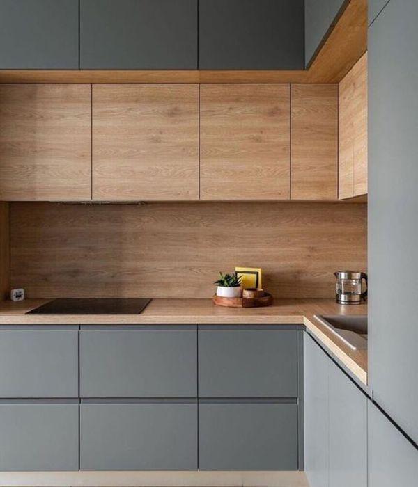 thi công tủ bếp bằng gỗ Pallet