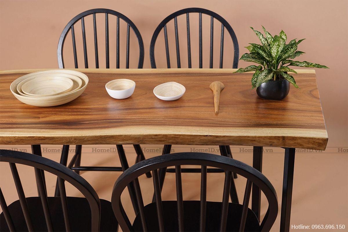 Sử dụng gỗ nguyên tấm trong thiết kế nội thất phòng bếp