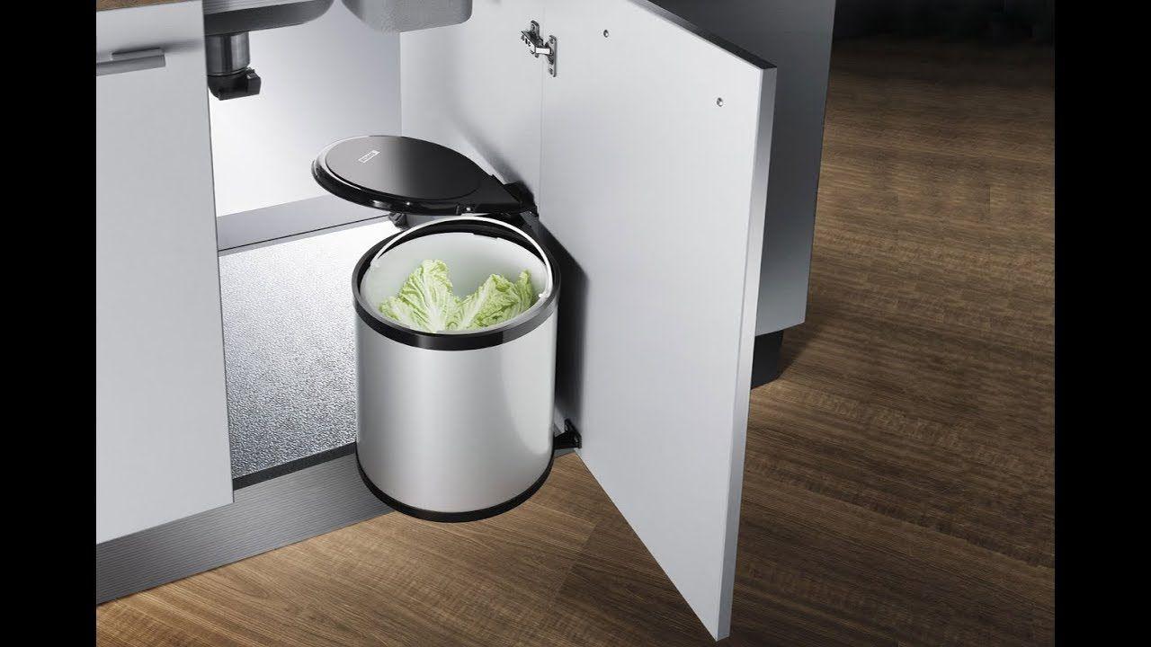 Thùng rác thông minh trong nội thất phòng bếp gia đình