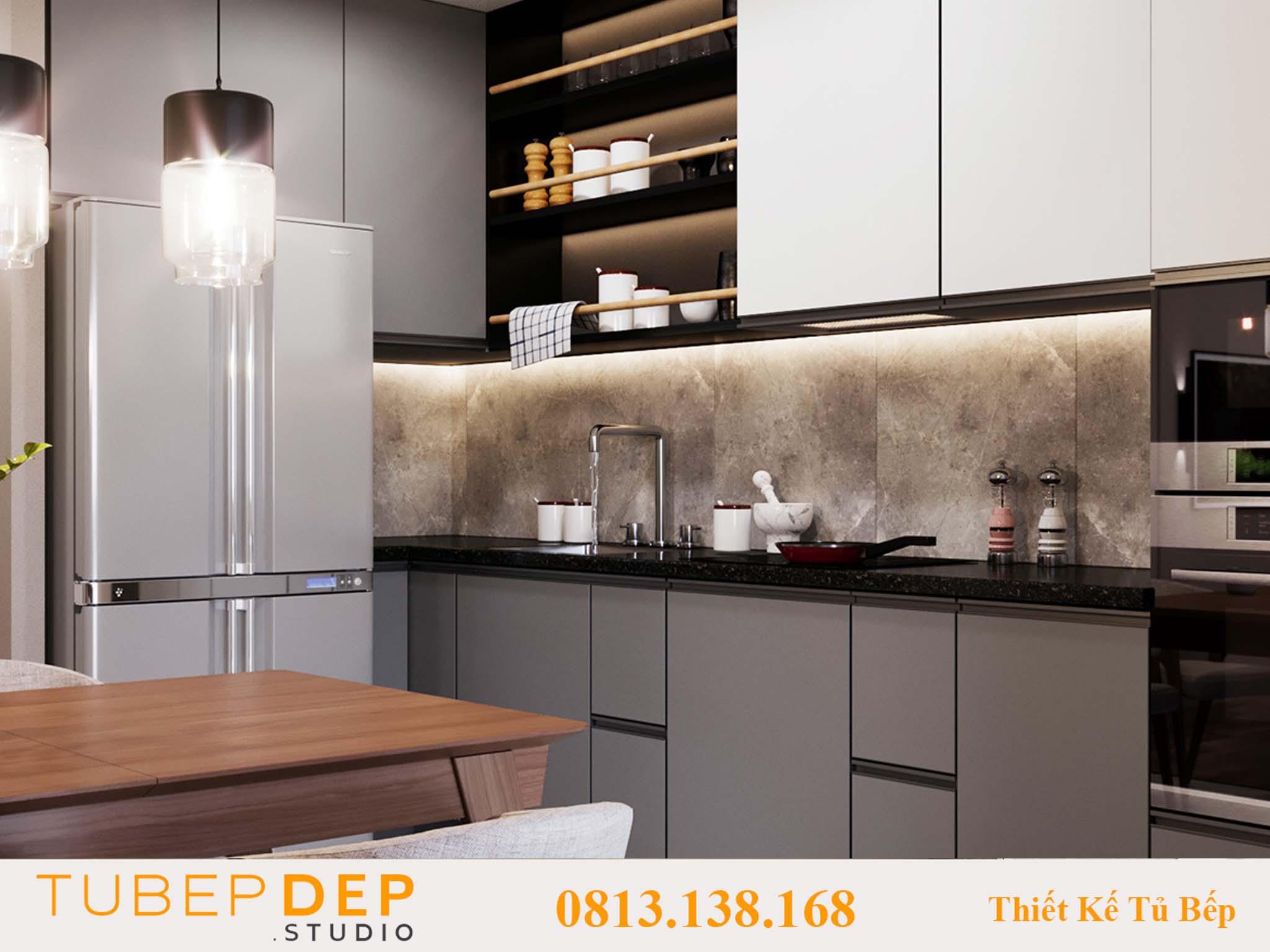 Xưởng mộc thiết kế tủ bếp đẹp và rẻ tại Phú Nhuận