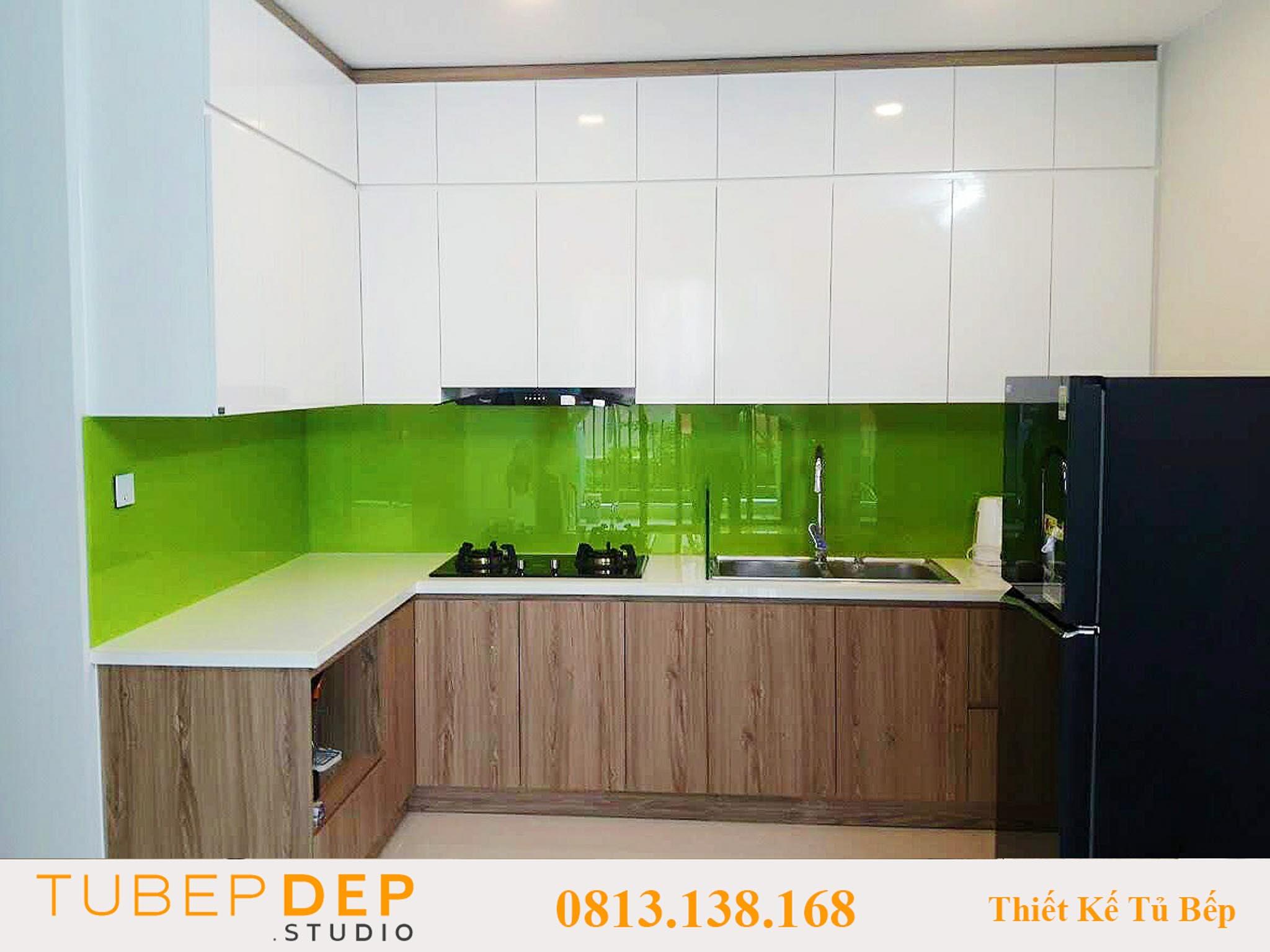 Cơ sở thiết kế tủ bếp bằng gỗ Pallet tại Tân Phú